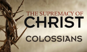 Supremecy of Christ Col.